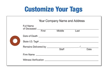 WHITE CREMATION TYVEK TAGS